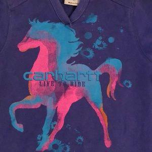 Carhartt Shirts & Tops - Purple Carharrt Hoodie